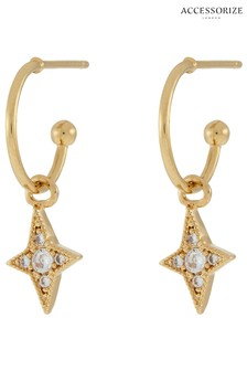 Z by Accessorize Crystal Pave Star Drop Earrings