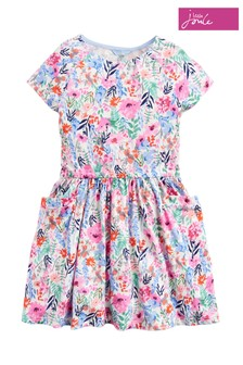 Joules Pink Jude Jersey Raglan Sleeve Dress
