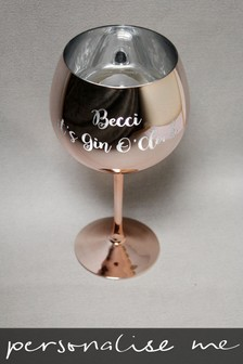 Personalised Rose Gold Gin Glass