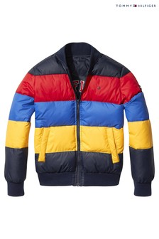Tommy Hilfiger Blue Reversable Block Quilted Jacket