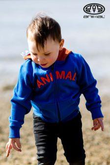 Animal Tigger-Hoodie mit Reißverschluss, Blau