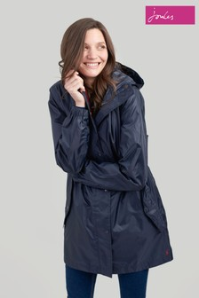 Joules Blue Golightly Plain Waterproof Packaway Jacket