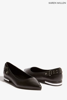 Karen Millen Black Stud Detail Collection Shoe