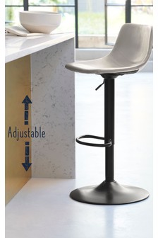 Wyatt Adjustable Black Leg Bar Stool