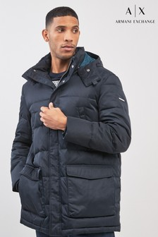 Armani Exchange Navy Padded Jacket