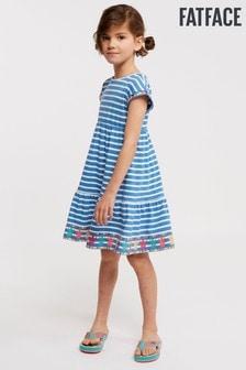 Vestido de punto azul de rayas Mollie de FatFace