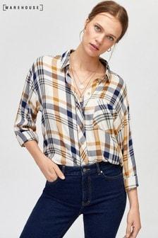 Warehouse White Check Shirt