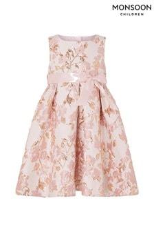 181ce541454a Ružové žakárové šaty Monsoon Baby Florence