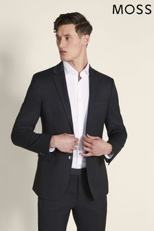 Moss London Skinny Fit Charcoal Stretch Jacket
