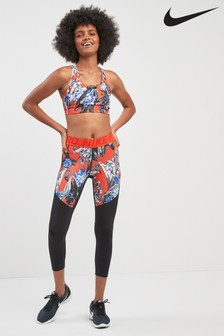 Nike Floral Printed Cropped Tight