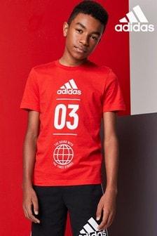 adidas Red 03 Logo T-Shirt