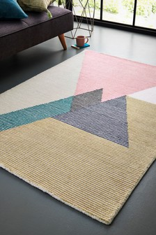 Textured Triangles Rug