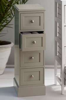 Painted Wood 4 Drawer Unit