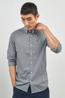 GANT Brown Gingam Poplin Check Regular Fit Shirt