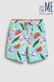 Пляжные шорты для мальчиков из коллекции для всей семьи с принтом надувных матрасов и кругов (3 мес.-16 лет)