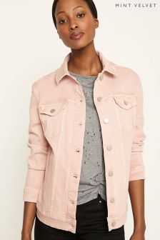 Mint Velvet Pink Denim Trucker Jacket
