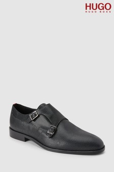 HUGO Black Smart Monk Strap Shoe