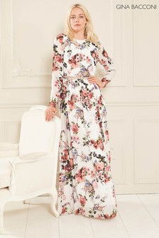 Gina Bacconi Dionne Chiffon Belted Maxi Dress