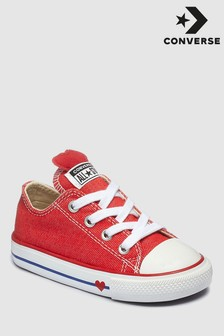 Converse Red Infant Heart Chuck Ox Trainer