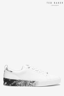 Ted Baker White Snake Print Trainers