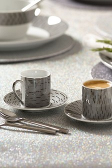 Set of 2 Clarence Espresso Cups And Saucers