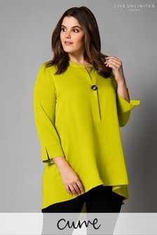 Live Unlimited Yellow Lime Blouse With Button Detail