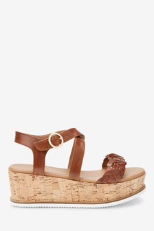 Cross Over Flatform Wedges