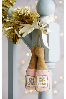 Set of 2 Prosecco Baubles