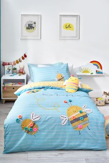 Bee Happy Duvet Cover and Pillowcase Set