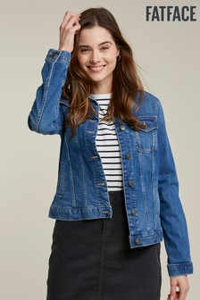 FatFace Blue Vintage Wash Denim Jacket