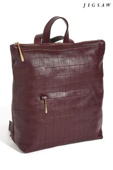 Jigsaw Wine Stevie Croc Emboss Backpack