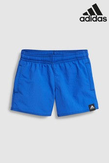adidas Hi Res Blue Solid Swim Short