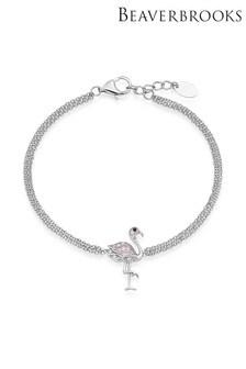 Beaverbrooks Silver CZ Flamingo Bracelet