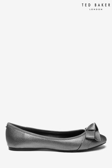 Ted Baker Grey Metallic Bow Shoes