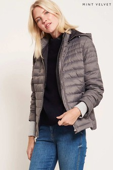 Mint Velvet Grey Quilted Lightweight Padded Jacket