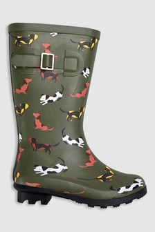 Dog Print Wellies (Older)