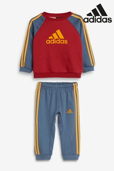 adidas Infant Red/Blue Crew And Jogger Set