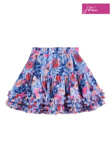 Joules Blue Lillian Girls Printed Tutu Skirt