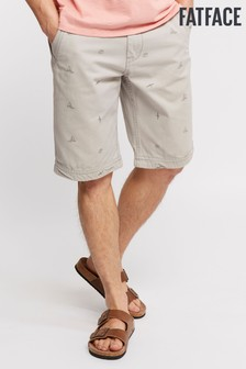 FatFace Grey Cove Boat Print Short