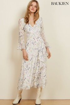 Baukjen Soft White Meadow Floral Jasmine Dress