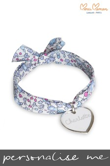 Personalised Liberty Heart Children's Bracelet by Merci Maman