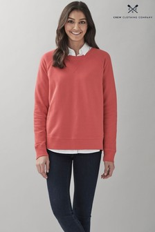 Crew Clothing Company Red Pigment Dyed Sweatshirt