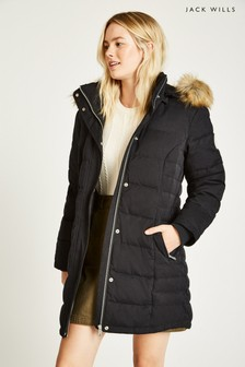 Jack Wills Black Melbury Down Coat
