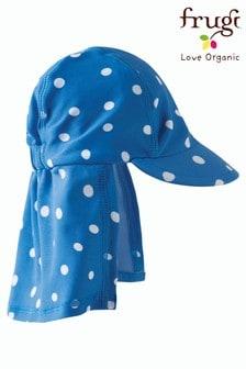 Niebieska czapka legionisty Frugi Oeko-Tex, w groszki