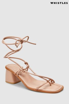 Whistles Nude Roman Tie Leg Barely There Sandal