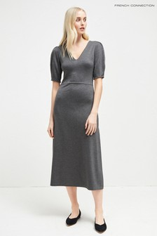 French Connection Charcoal Jersey Maxi Dress