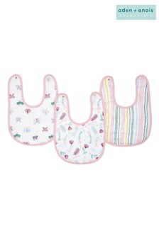 aden + anais Essentials Floral Fauna Snap Bibs Three Pack