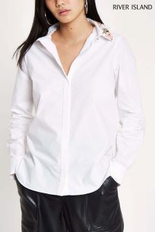 River Island Embellished Collar Shirt
