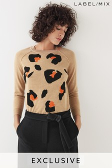 Next/Mix Leopard Knit