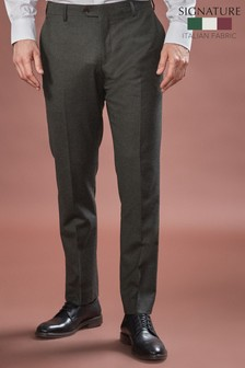 Barberis Flannel Suit: Trousers